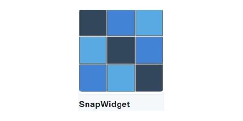 SnapWidget coupons