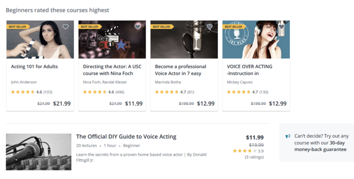 best free online acting classes