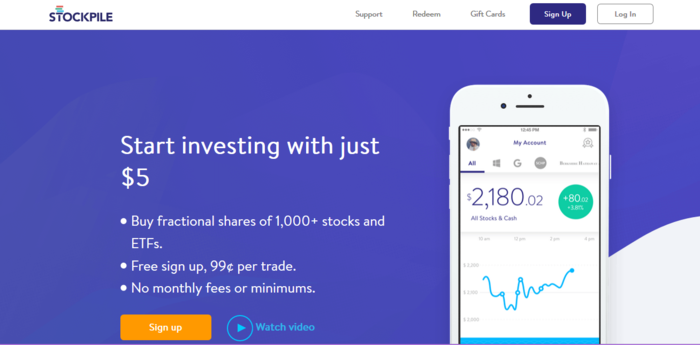 trading investment apps little money
