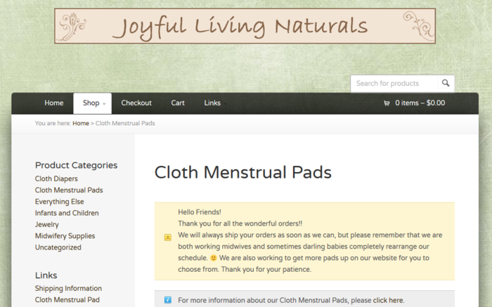 eco friendly reusable menstrual products