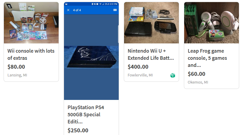 sell old video game consoles