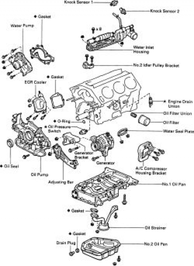 how to replace the oil pan on all 1997 2000 toyota camry the 1mz fe engine is equipped two oil pan