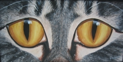painting of cats eyes