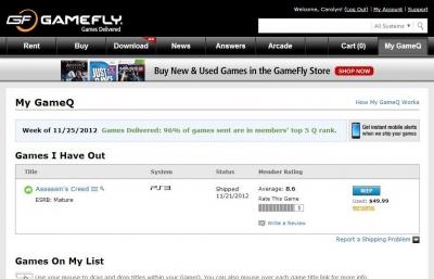 online video game rental sites