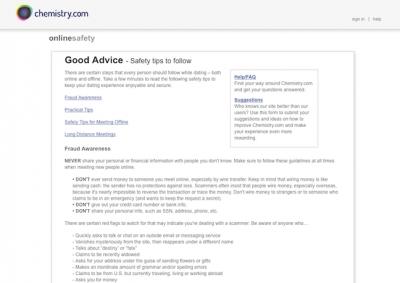Dating site reviews chemistry com