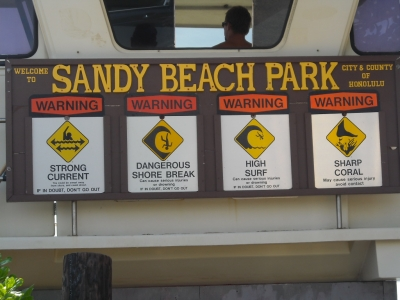 Sandy Beach Park, O'ahu, Hawai'i