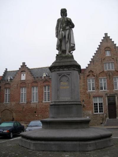 Statue Hans Memling Bruges