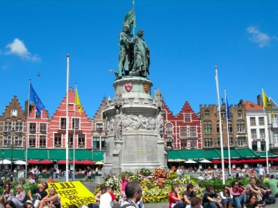 statue Jan Breydel and Pieter De Koninck (Bruges)