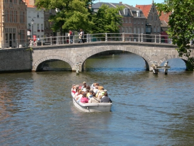 boat trip on the Bruges Reie