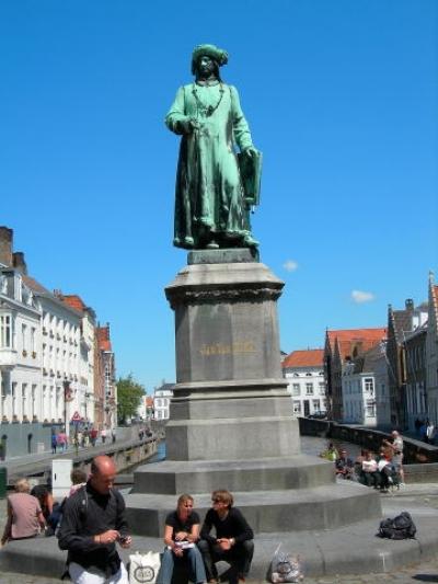 statue Jan Van Eyck Bruges