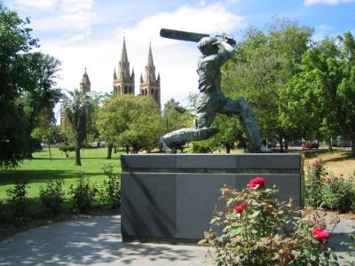 Don Bradman Statue Outside Adelaide Oval