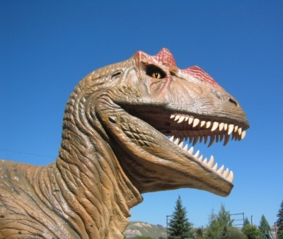 dinosaur in drumheller