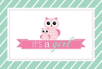 Pink And Teal Vintage Girl Baby Shower. The Big Block Font Used For BABY  Has A Vintage, Almost Victorian Quality To It. The Teal Background Has A  Texture ...