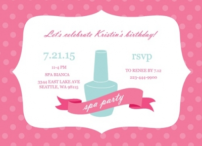 Refreshing Spa Party Invites by PurpleTrail