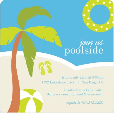 Summer Pool Party Invitations by PurpleTrail