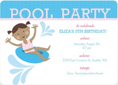Summer pool party invitations by purpletrail teal pool party birthday party invite fc6584a4g filmwisefo Gallery