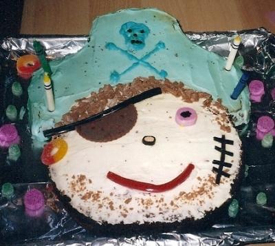 how to make a pirate shaped cake