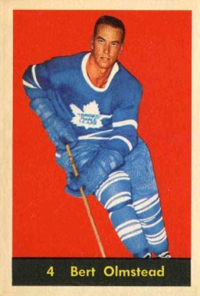 bert olmstead hockey card toronto maple leafs national hockey league