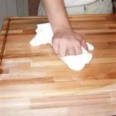 With Butcher Block Countertops You Can Actually Sand Out Deep Scratches If Want The Countertop To Have A Smooth Surface Sanding Damaged Area And