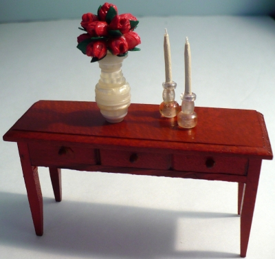 Miniature Dollhouse Candlesticks and Taper Candles
