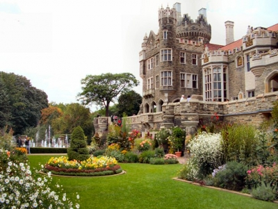 Casa Loma Garden, looking west towards the Castle itself