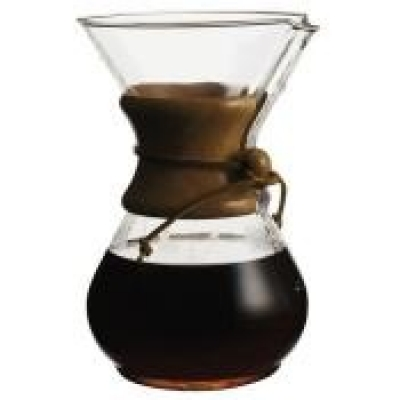 Cone Filter On Gl Coffee Pot