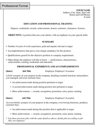 butterfly inc resume style the professional resume format