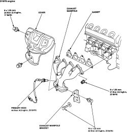 Honda accord exhaust manifold replacement