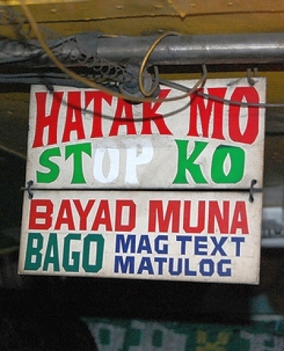 funny jeepney sign