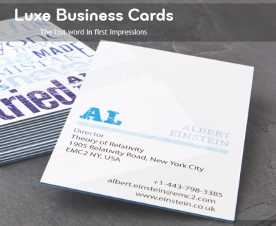 Alfa img Showing Vistaprint Business Cards Message