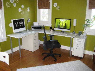 A Great Choice For Home Office Because Green Is The Color Of Concentration Its One Best Colors To Be Surrounded By Long Periods Time