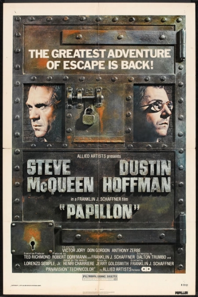 Image result for PAPILLON ( 1973 ) POSTER
