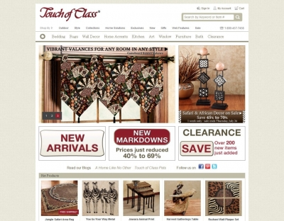 About Touch of Class. Touch of Class sells home solutions, furnishings, decor, and more for all homes.