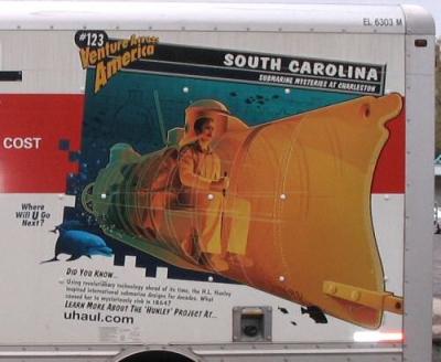 South Carolina (USA) U-haul moving van mural