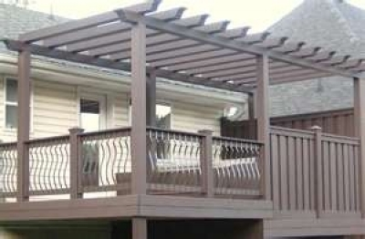 ... Installed Over A Patio Or Deck. The Lumber Used Is Primarily Cedar Or  Redwood, But Some Manufacturers Utilize Synthetic Material That Is  Dimensionally ...