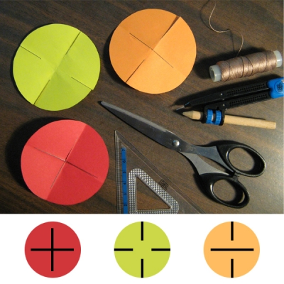 Use a ruler to draw straight lines and make a cut on the markings.