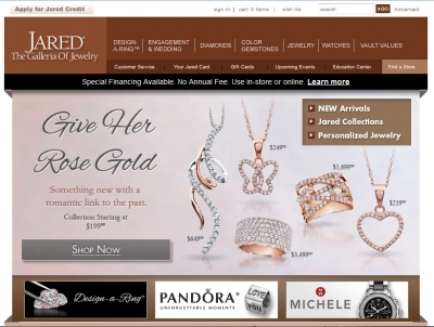 Jaredcom Website Review Ratings Jared The Galleria of Jewelry