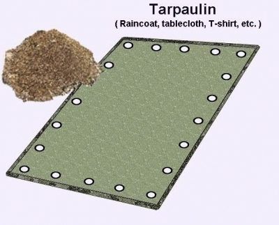Spread a tarpaulin, rain jacket, T-shirt or whatever you have on the ground, next to the anthill
