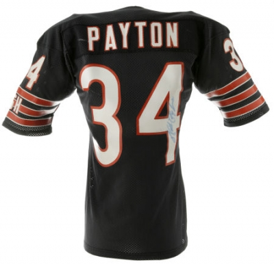 A circa 1986-87 Walter Payton Chicago Bears game-worn  34 jersey sold at  auction for  4 35016efec